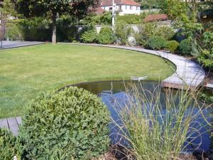 Jardin aménagé - terrasse bois - Eric Ginollin