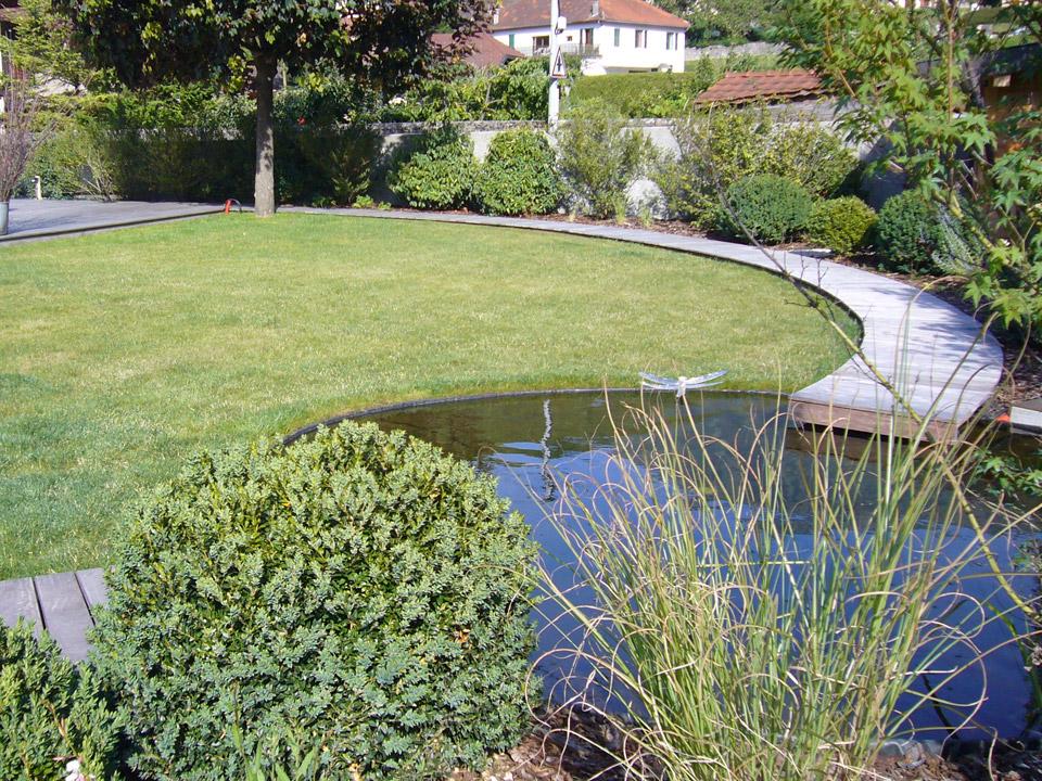 Jardin amenagé - terrasse bois - Eric Ginollin